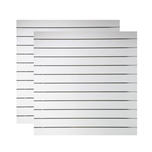Spacewall Lamellenwand Slatwall 2er-Set weiß
