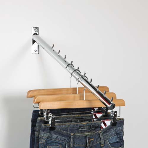 Kleiderstange schräg, 10 Stifte 40 cm