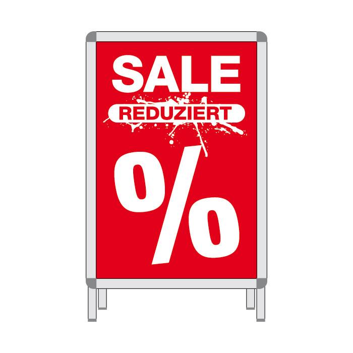 Rahmenplakat 'SALE Reduziert %'