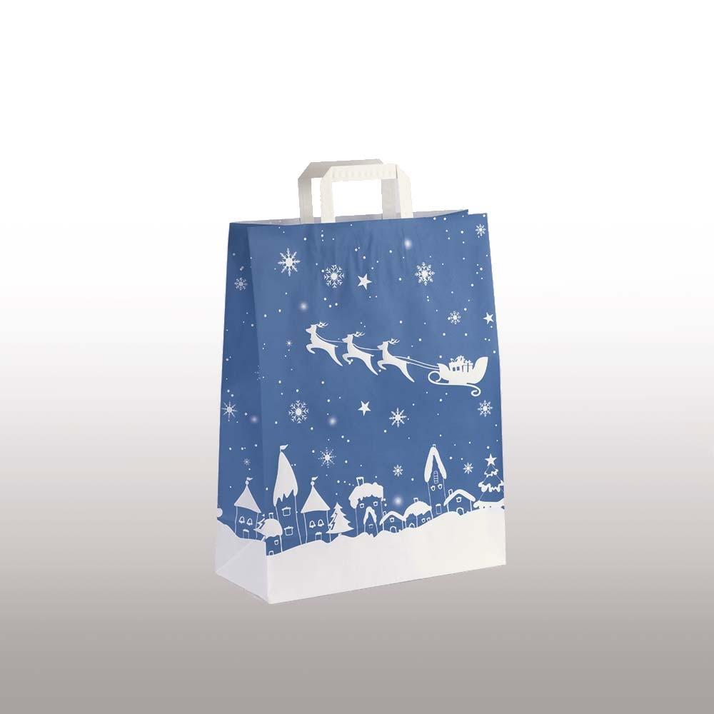 Papiertasche Weihnachten Schlitten