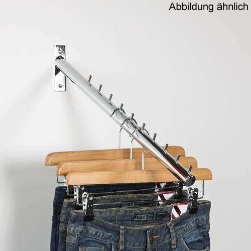Kleiderstange schräg, 5 Stifte 20 cm