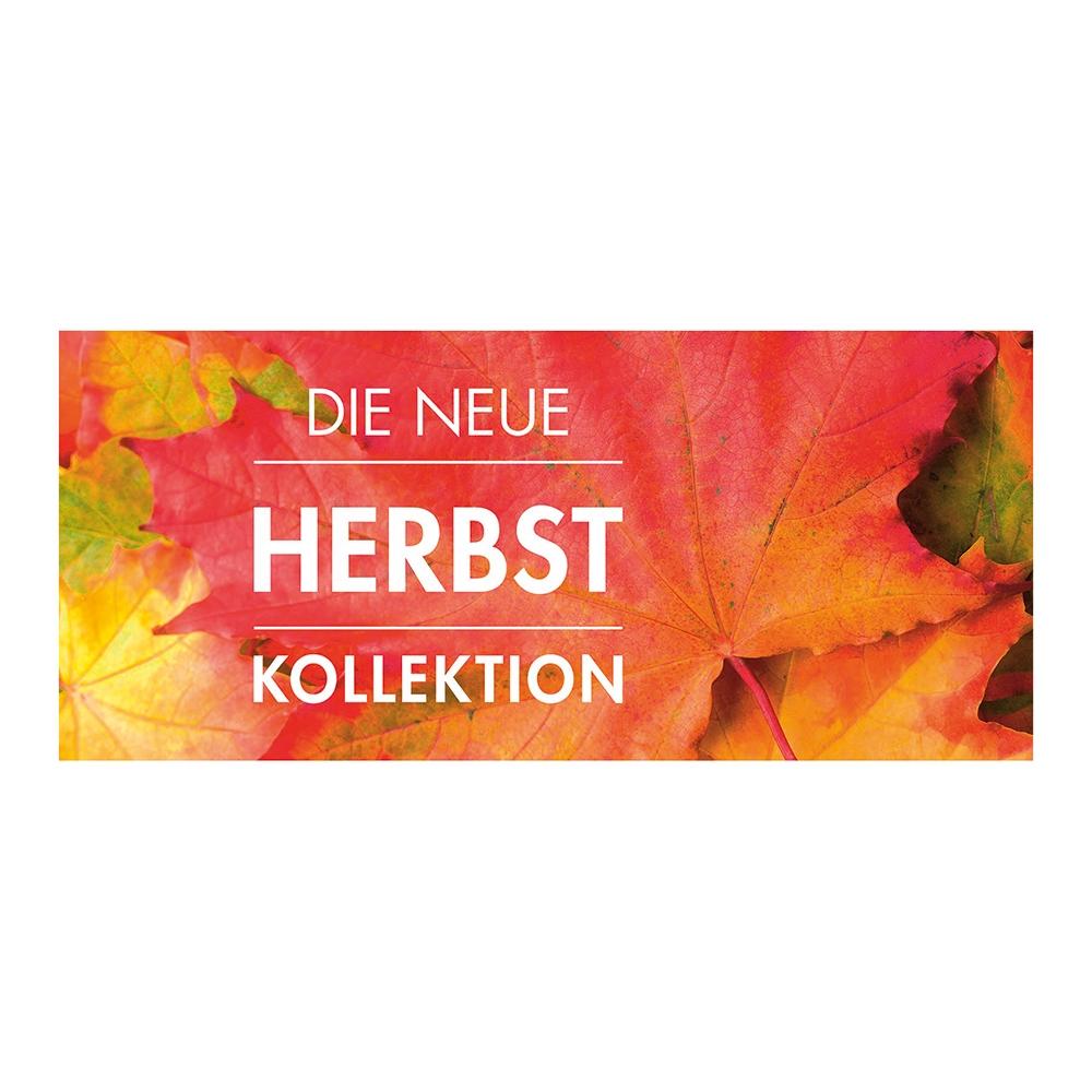 Plakat 'Die neue Herbstkollektion'