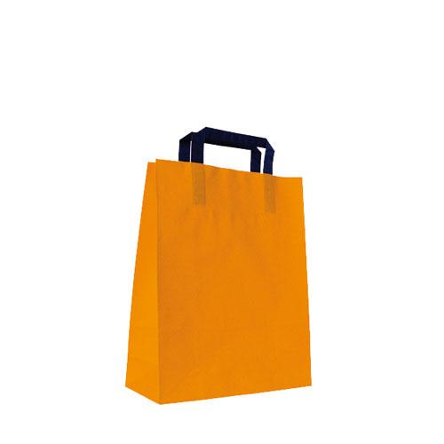 Papier-Tragetüte orange