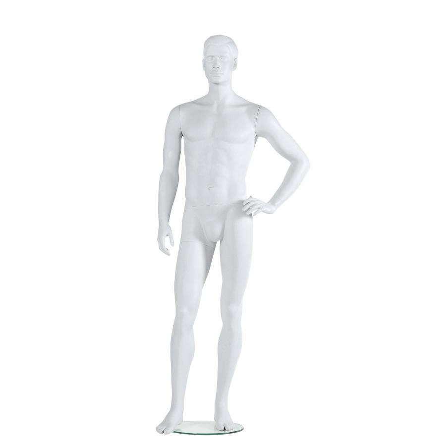 Männliche Schaufensterpuppe weiß