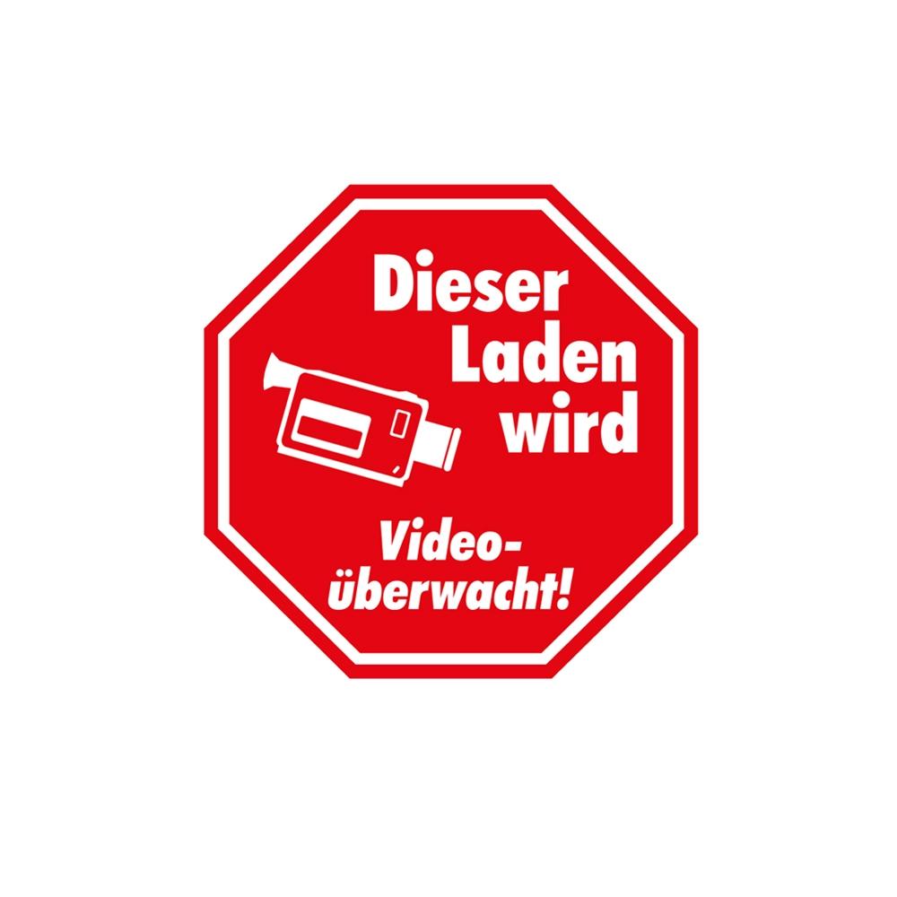 Aufkleber Video-Überwachung