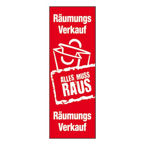 Plakat 'Räumungsverkauf'