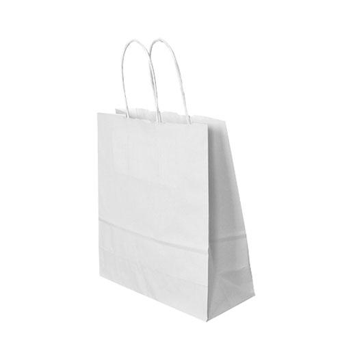 Papier Tragetüte weiß
