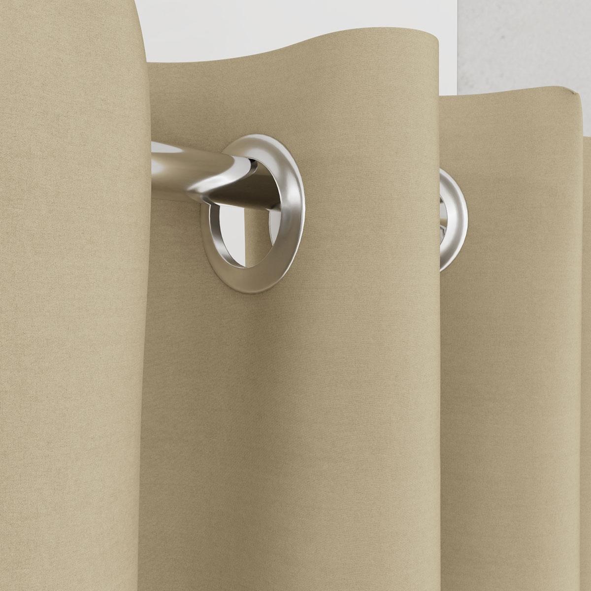 Vorhang für Umkleidekabine beige