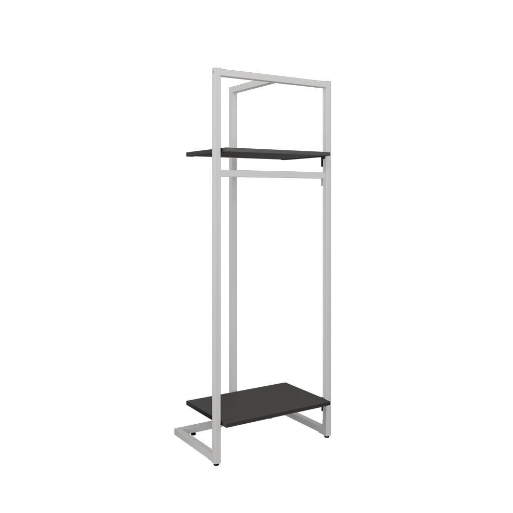 Garderobenständer Set weiß/schwarz