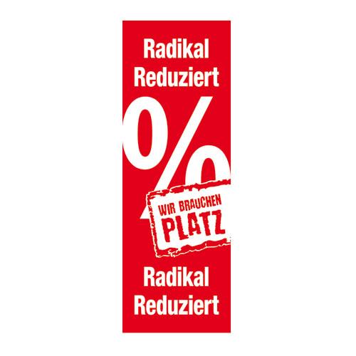 Plakat 'Radikal reduziert'