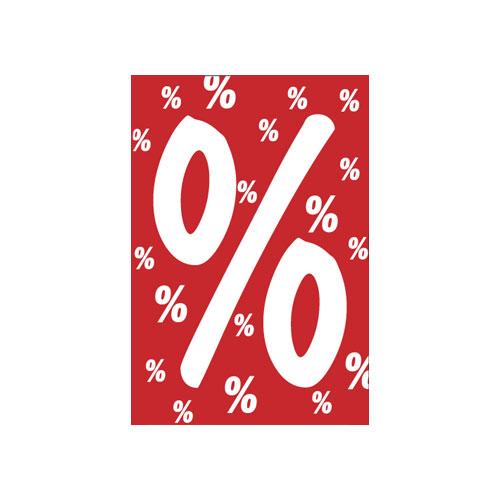 Rahmenschild %-Zeichen A4
