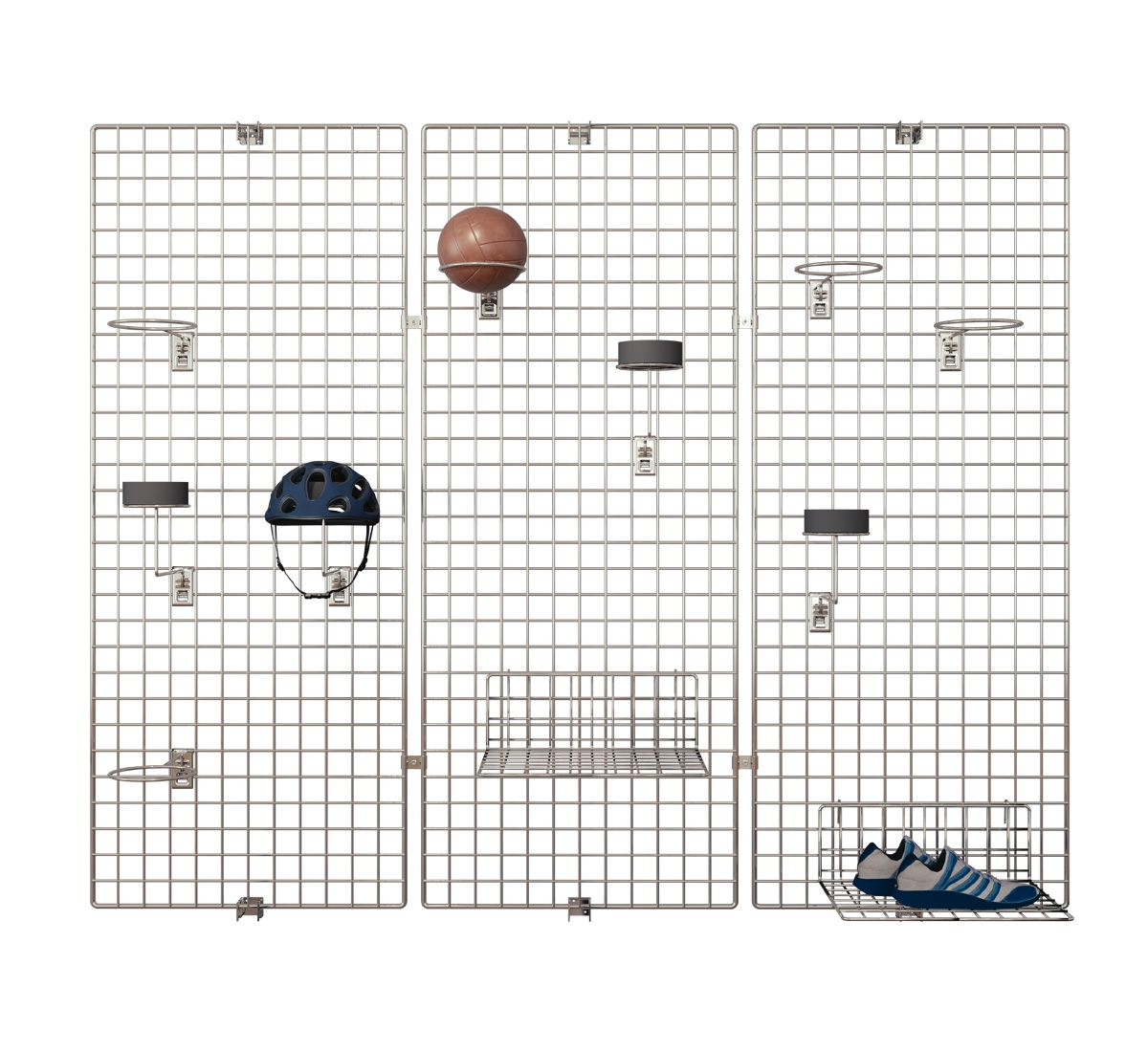 Deko Wandgitter 3er-Set: 60 x 150 cm