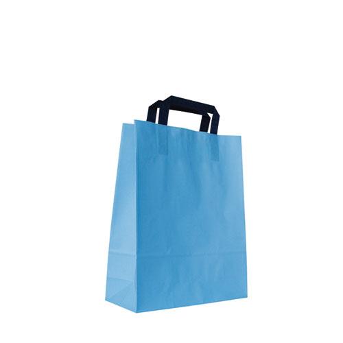 Papier-Tragetüte hellblau
