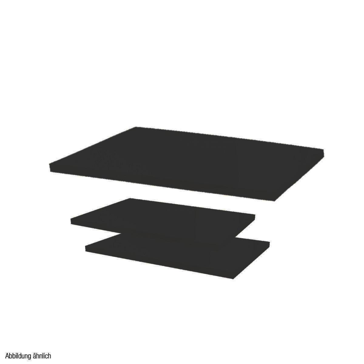 Holzplatten-Set schwarz für Mittelraumtisch Scala