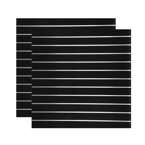 Spacewall Lamellenwand Slatwall 2er-Set schwarz hochglanz